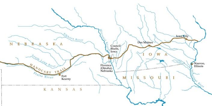 Trail through Iowa and Nebraska