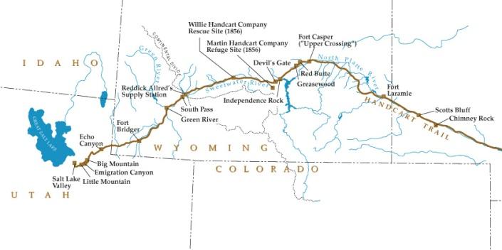 Map WY UT Trail