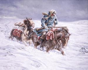 Trek - Ephraim Hanks in snow
