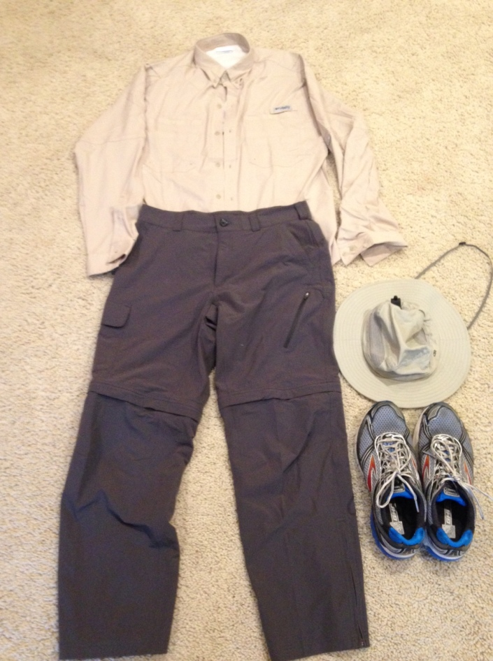 Example of men's clothing for Trek